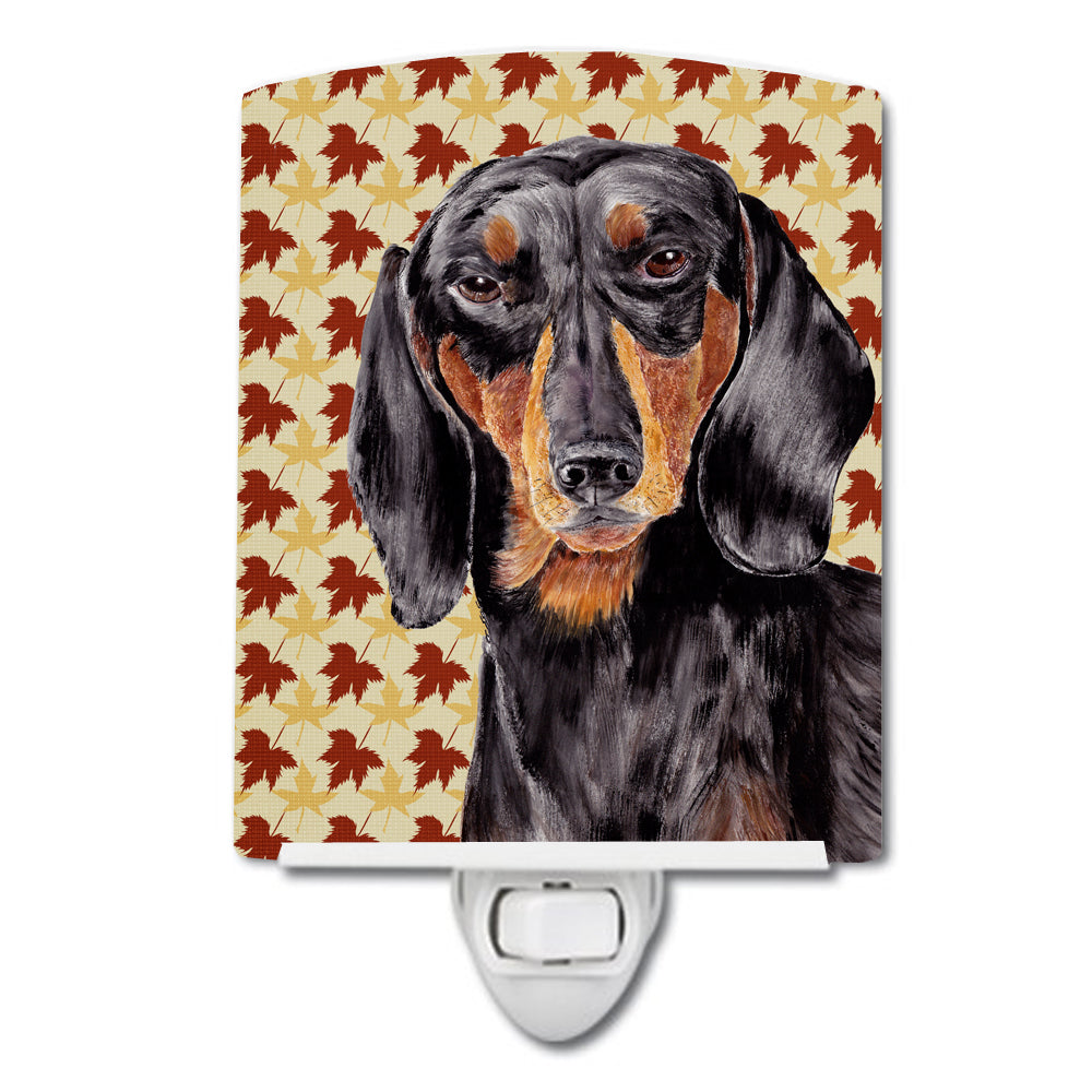Dachshund Fall Leaves Portrait Ceramic Night Light SC9203CNL by Caroline's Treasures