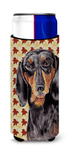 Dachshund Fall Leaves Portrait Ultra Beverage Insulators for slim cans SC9203MUK by Caroline's Treasures