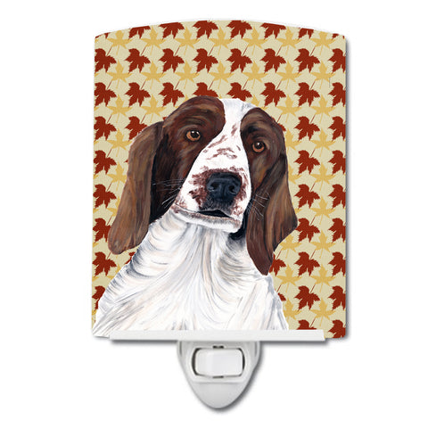 Buy this Welsh Springer Spaniel Fall Leaves Portrait Ceramic Night Light SC9220CNL