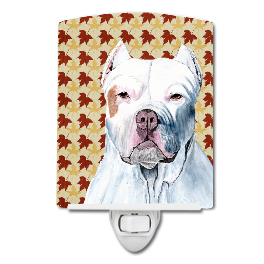Buy this Pit Bull Fall Leaves Portrait Ceramic Night Light SC9221CNL
