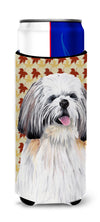 Shih Tzu Fall Leaves Portrait Ultra Beverage Insulators for slim cans SC9223MUK by Caroline's Treasures