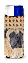 Mastiff Fall Leaves Portrait Ultra Beverage Insulators for slim cans SC9225MUK by Caroline's Treasures