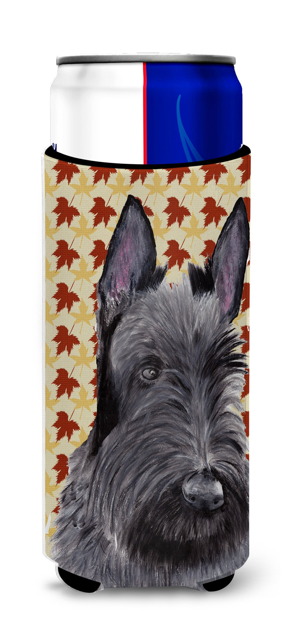 Scottish Terrier Fall Leaves Portrait Ultra Beverage Insulators for slim cans SC9226MUK by Caroline's Treasures