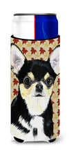 Chihuahua Fall Leaves Portrait Ultra Beverage Insulators for slim cans SC9239MUK by Caroline's Treasures