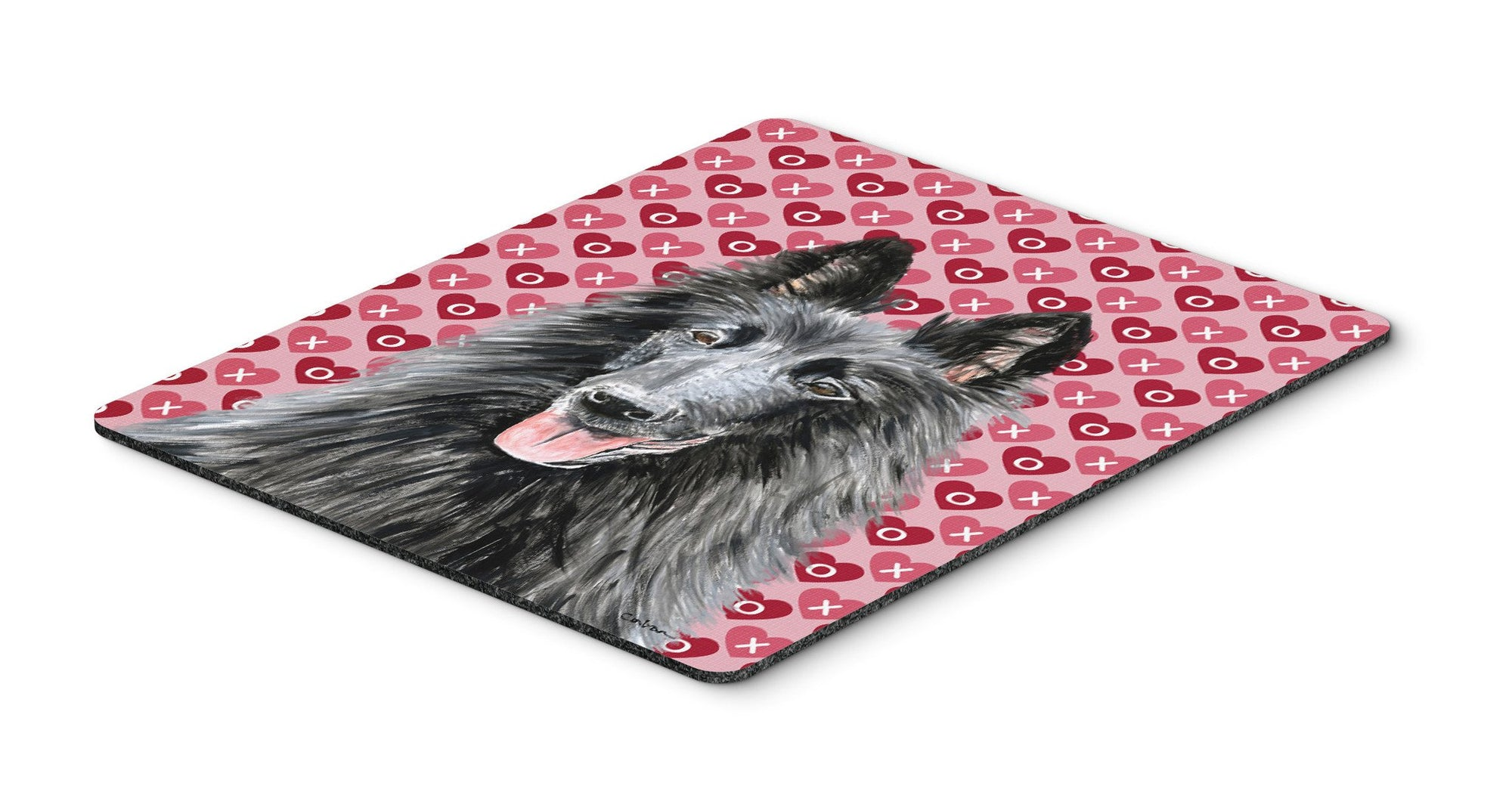 Belgian Sheepdog Hearts Love and Valentine's Day Mouse Pad, Hot Pad or Trivet by Caroline's Treasures