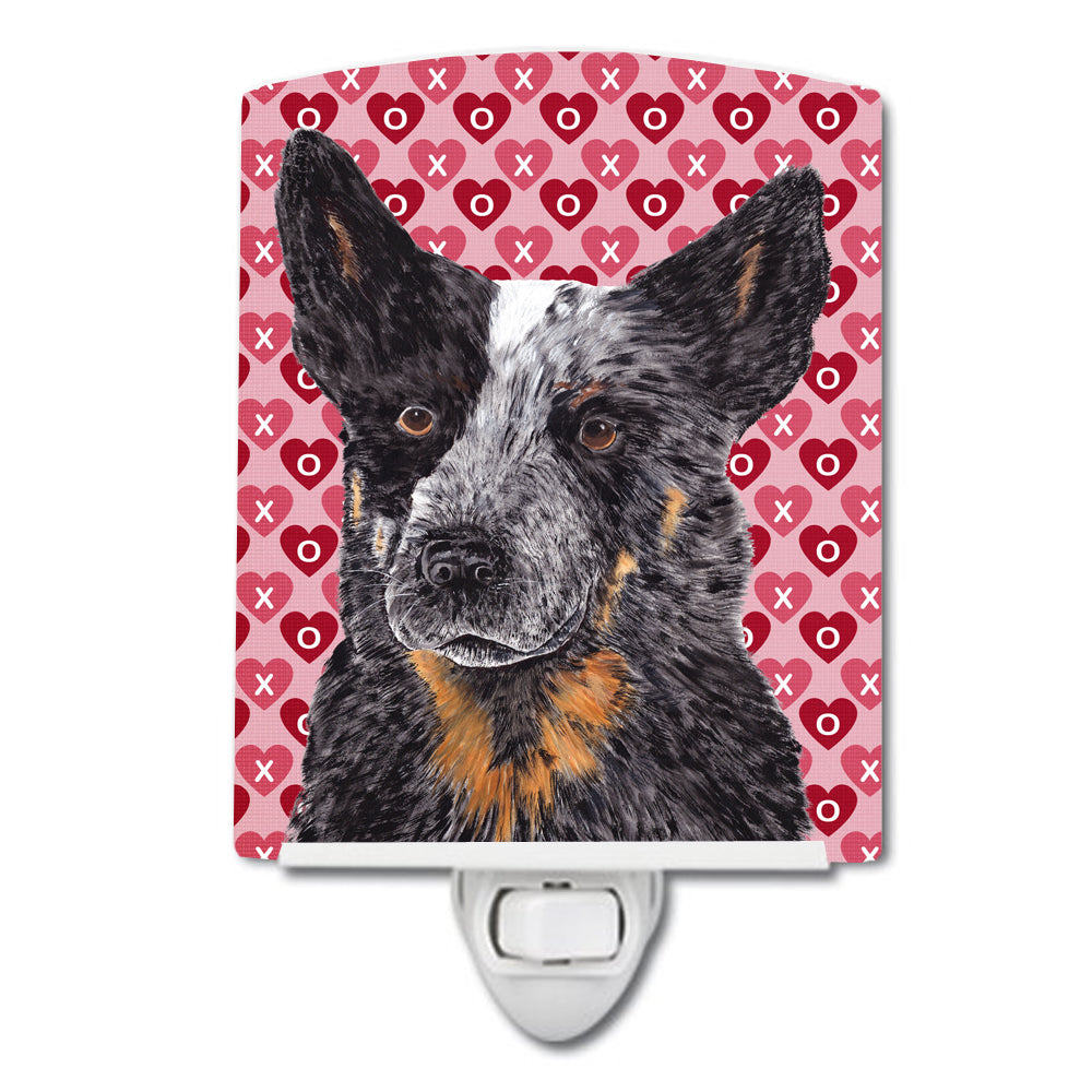 Buy this Australian Cattle Dog Hearts Love Valentine's Day Ceramic Night Light SC9243CNL