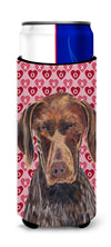 German Shorthaired Pointer Hearts Love and Valentine's Day Ultra Beverage Insulators for slim cans SC9244MUK by Caroline's Treasures