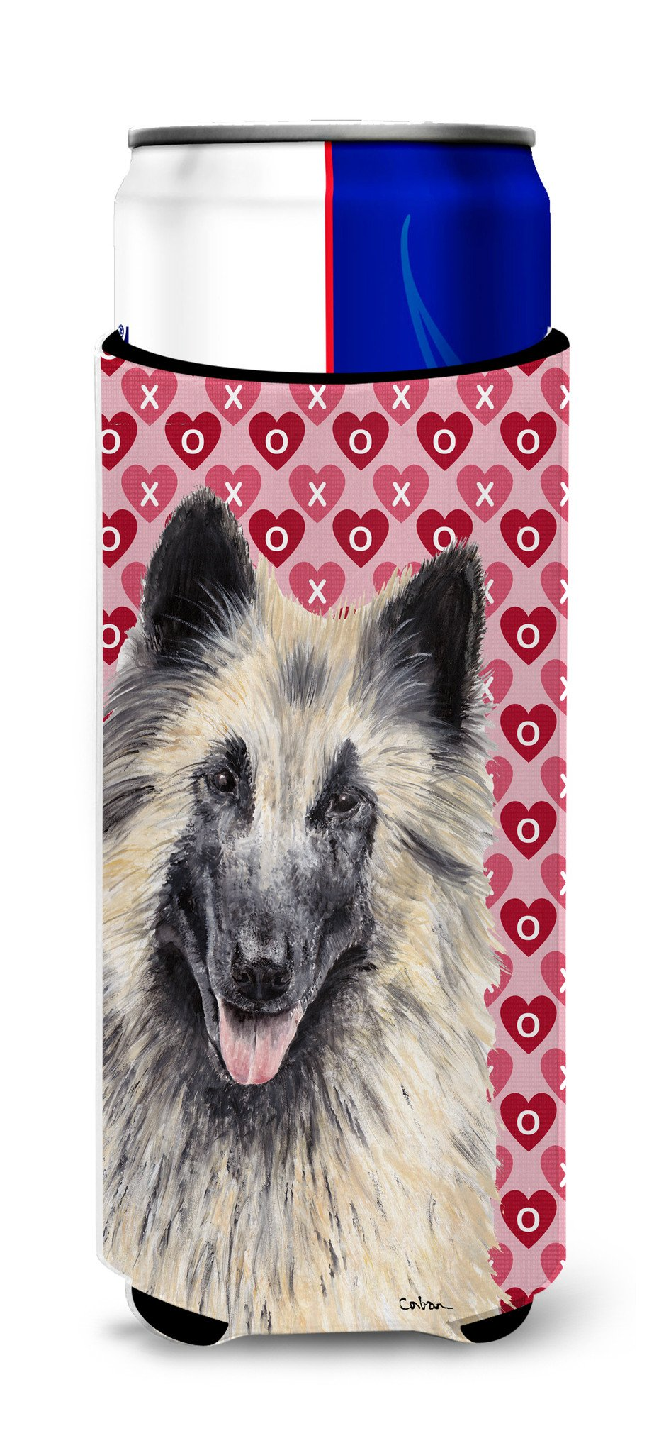 Belgian Tervuren Hearts Love and Valentine's Day Portrait Ultra Beverage Insulators for slim cans SC9247MUK by Caroline's Treasures