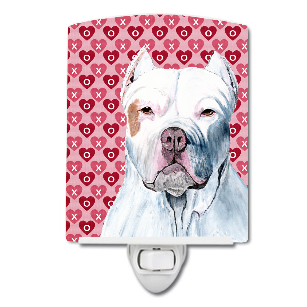 Buy this Pit Bull Hearts Love and Valentine's Day Portrait Ceramic Night Light SC9258CNL