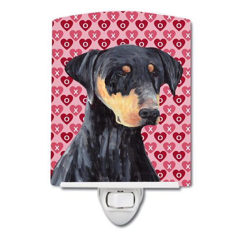Buy this Doberman Hearts Love and Valentine's Day Portrait Ceramic Night Light SC9262CNL