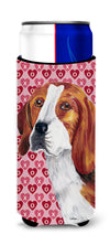 Beagle Hearts Love and Valentine's Day Portrait Ultra Beverage Insulators for slim cans SC9270MUK by Caroline's Treasures