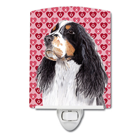 Buy this Springer Spaniel Hearts Love Valentine's Day Ceramic Night Light SC9277CNL
