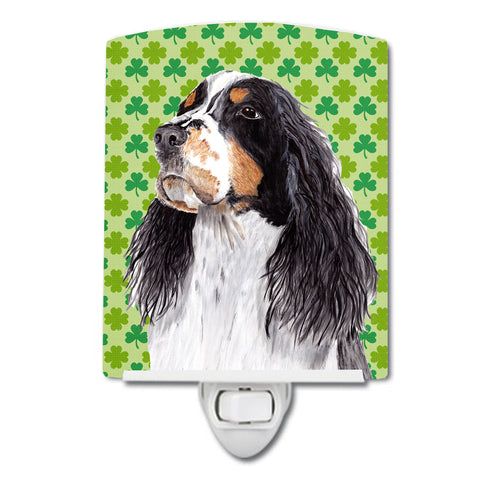 Buy this Springer Spaniel St. Patrick's Day Shamrock Portrait Ceramic Night Light SC9281CNL