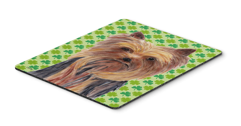 Buy this Yorkie St. Patrick's Day Shamrock Portrait Mouse Pad, Hot Pad or Trivet