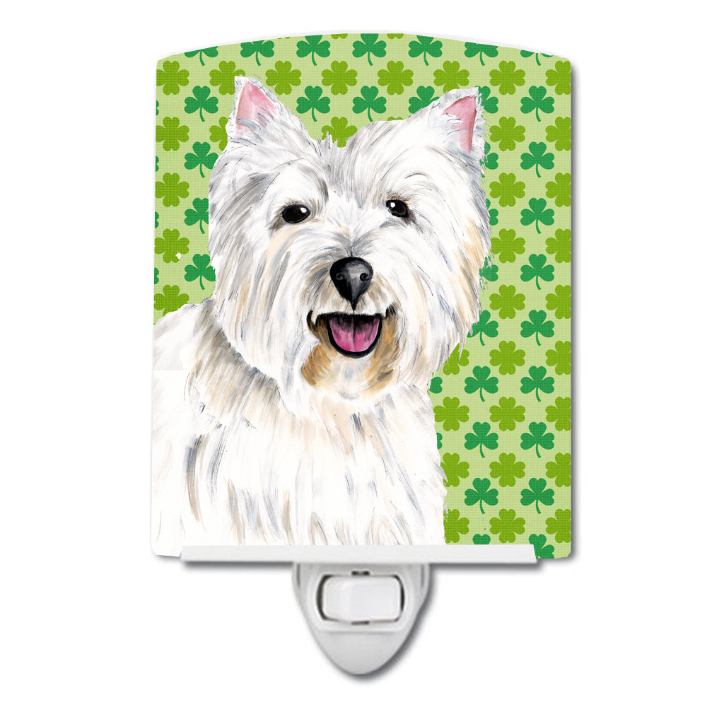 Westie St. Patrick's Day Shamrock Portrait Ceramic Night Light SC9290CNL by Caroline's Treasures