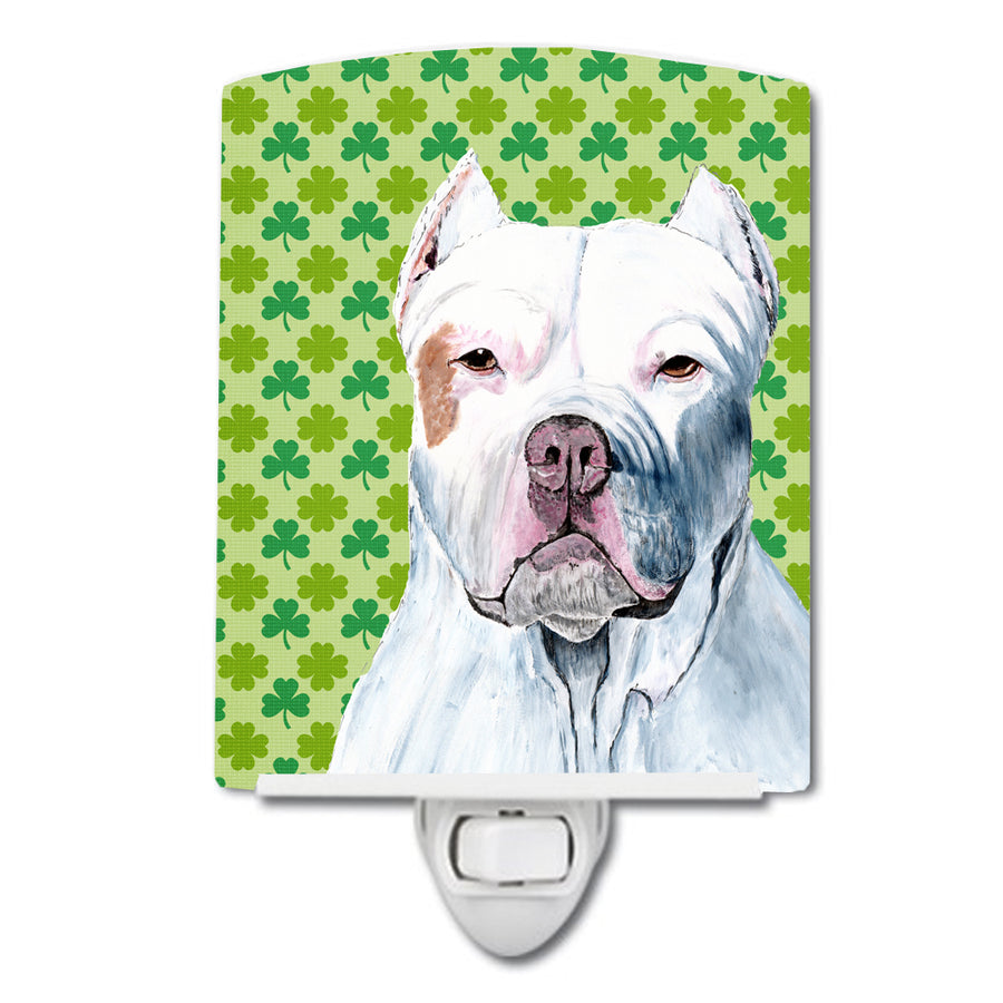 Buy this Pit Bull St. Patrick's Day Shamrock Portrait Ceramic Night Light SC9301CNL