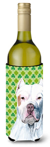 Buy this Pit Bull St. Patrick's Day Shamrock Portrait Wine Bottle Beverage Insulator Beverage Insulator Hugger