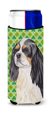 Cavalier Spaniel St. Patrick's Day Shamrock Portrait Ultra Beverage Insulators for slim cans SC9311MUK by Caroline's Treasures