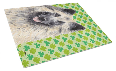 Buy this Belgian Tervuren St. Patrick's Day Shamrock Portrait Glass Cutting Board Large