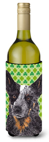 Buy this Australian Cattle Dog St. Patrick's Day Shamrock Wine Bottle Beverage Insulator Beverage Insulator Hugger