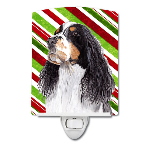 Buy this Springer Spaniel Candy Cane Holiday Christmas Ceramic Night Light SC9321CNL