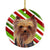 Yorkie Candy Cane Holiday Christmas  Ceramic Ornament SC9325 by Caroline's Treasures
