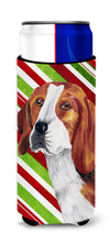 Beagle Candy Cane Holiday Christmas Ultra Beverage Insulators for slim cans SC9329MUK by Caroline's Treasures