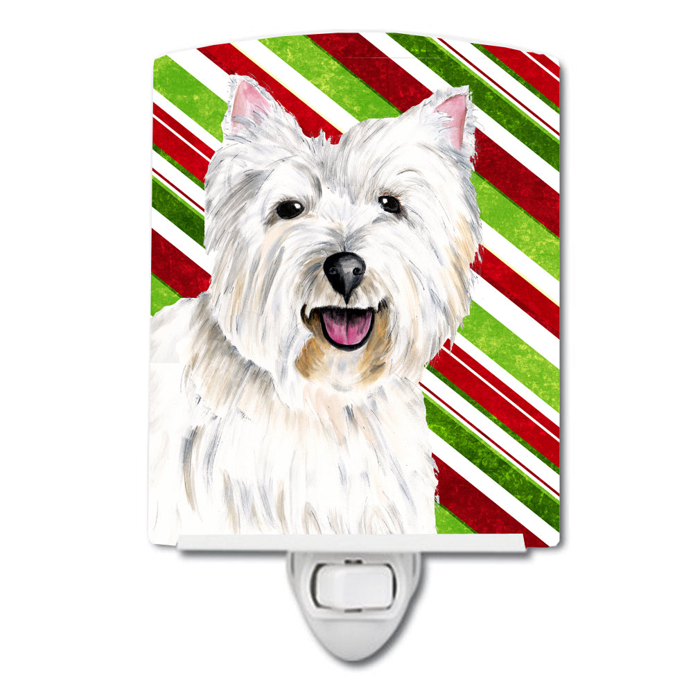 Westie Candy Cane Holiday Christmas Ceramic Night Light SC9330CNL by Caroline's Treasures
