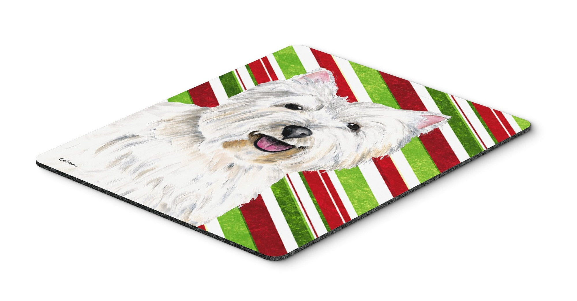 Westie Candy Cane Holiday Christmas Mouse Pad, Hot Pad or Trivet by Caroline's Treasures