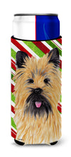 Cairn Terrier Candy Cane Holiday Christmas Ultra Beverage Insulators for slim cans SC9335MUK by Caroline's Treasures