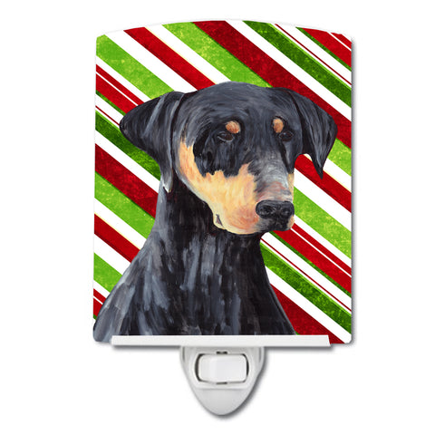 Buy this Doberman Candy Cane Holiday Christmas Ceramic Night Light SC9337CNL