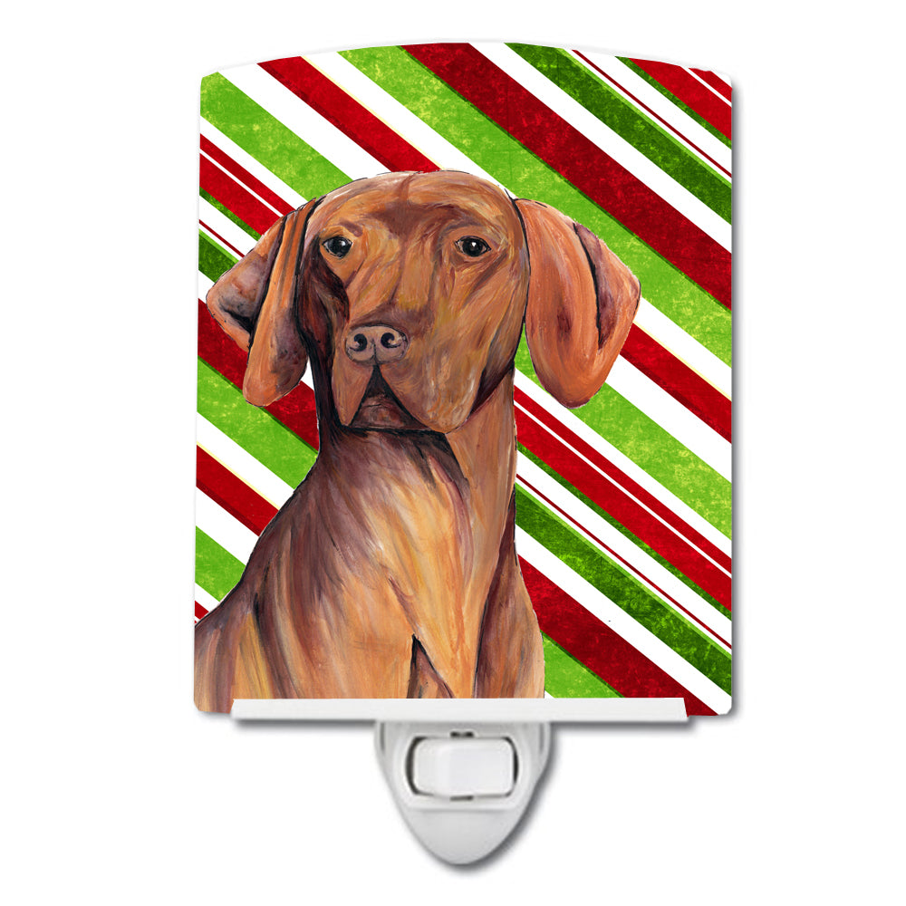 Vizsla Candy Cane Holiday Christmas Ceramic Night Light SC9338CNL by Caroline's Treasures