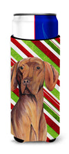 Vizsla Candy Cane Holiday Christmas Ultra Beverage Insulators for slim cans SC9338MUK by Caroline's Treasures