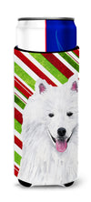 American Eskimo Candy Cane Holiday Christmas Ultra Beverage Insulators for slim cans SC9339MUK by Caroline's Treasures