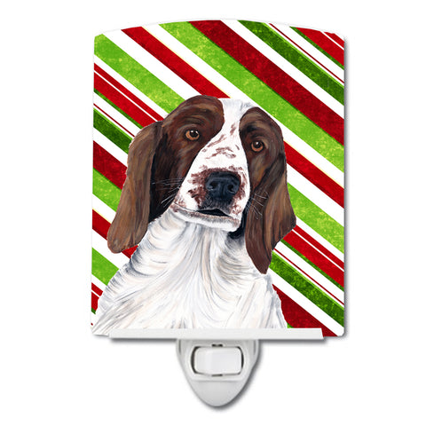 Buy this Welsh Springer Spaniel Candy Cane Holiday Christmas Ceramic Night Light SC9340CNL