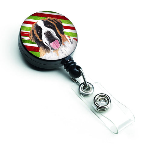 Buy this Saint Bernard Candy Cane Holiday Christmas Retractable Badge Reel SC9342BR