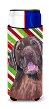 Labrador Candy Cane Holiday Christmas Ultra Beverage Insulators for slim cans SC9344MUK by Caroline's Treasures