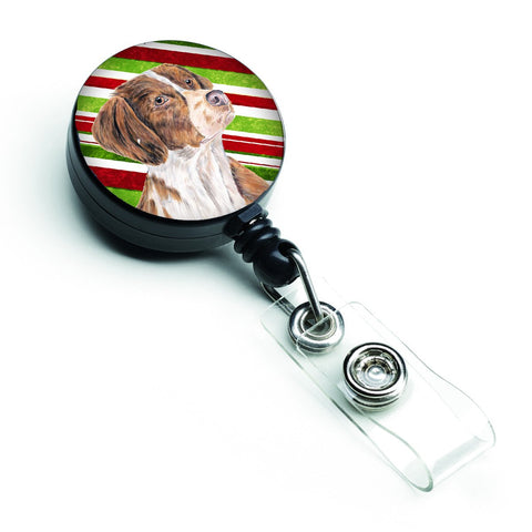Buy this Brittany Candy Cane Holiday Christmas Retractable Badge Reel SC9349BR