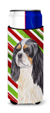 Cavalier Spaniel Candy Cane Holiday Christmas Ultra Beverage Insulators for slim cans SC9351MUK by Caroline's Treasures