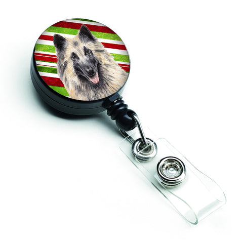 Buy this Belgian Tervuren Candy Cane Holiday Christmas Retractable Badge Reel SC9352BR