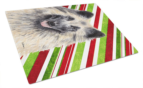 Buy this Belgian Tervuren Candy Cane Holiday Christmas Glass Cutting Board Large
