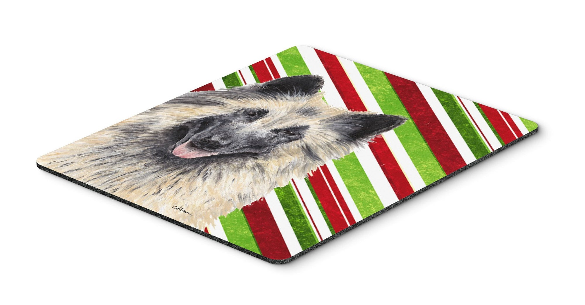 Belgian Tervuren Candy Cane Holiday Christmas Mouse Pad, Hot Pad or Trivet by Caroline's Treasures