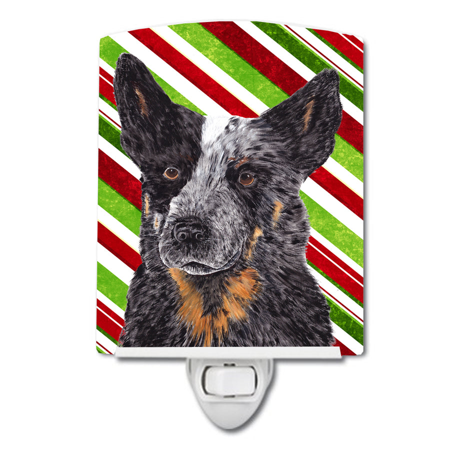 Buy this Australian Cattle Dog Candy Cane Holiday Christmas Ceramic Night Light SC9356CNL
