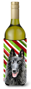 Belgian Sheepdog Candy Cane Holiday Christmas Wine Bottle Beverage Insulator Beverage Insulator Hugger by Caroline's Treasures