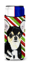 Chihuahua Candy Cane Holiday Christmas Ultra Beverage Insulators for slim cans SC9359MUK by Caroline's Treasures