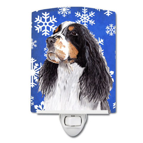 Buy this Springer Spaniel Winter Snowflakes Holiday Ceramic Night Light SC9361CNL