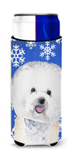 Bichon Frise Winter Snowflakes Holiday Ultra Beverage Insulators for slim cans SC9362MUK by Caroline's Treasures