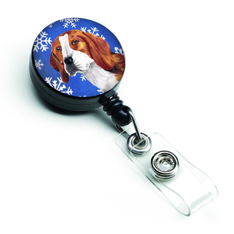 Buy this Beagle Winter Snowflakes Holiday Retractable Badge Reel SC9369BR