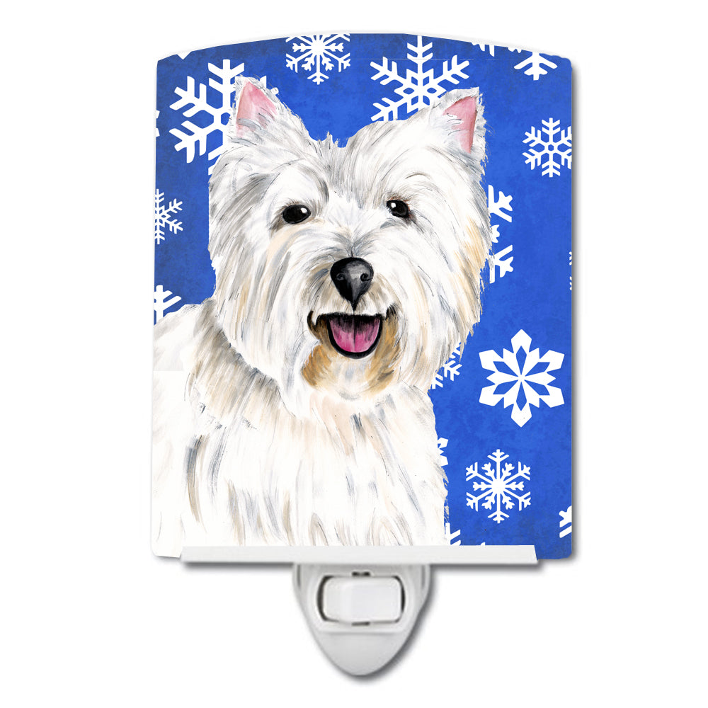 Westie Winter Snowflakes Holiday Ceramic Night Light SC9370CNL by Caroline's Treasures
