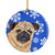 Pug Winter Snowflakes Holiday Ceramic Ornament SC9371 by Caroline's Treasures